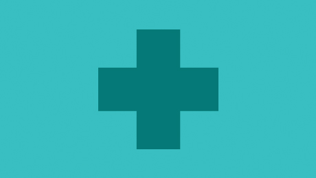 Blue health icon