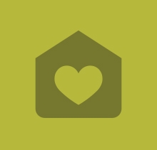 House icon with heart